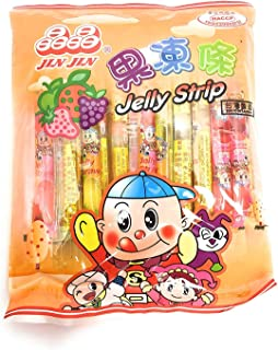 Jin Jin Fruit Jelly Filled Strip Straws Candy - Many Flavors! (1 Pack)
