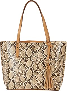 Snake Carryall Tote Latte One Size
