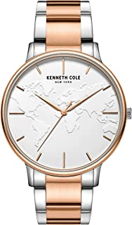 Kenneth Cole Men's Quartz Watch, Analog Display and Stainless Steel Strap KC50785002