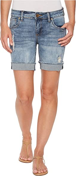 KUT from the Kloth - Catherine Boyfriend Shorts in Agreed/Medium Base Wash