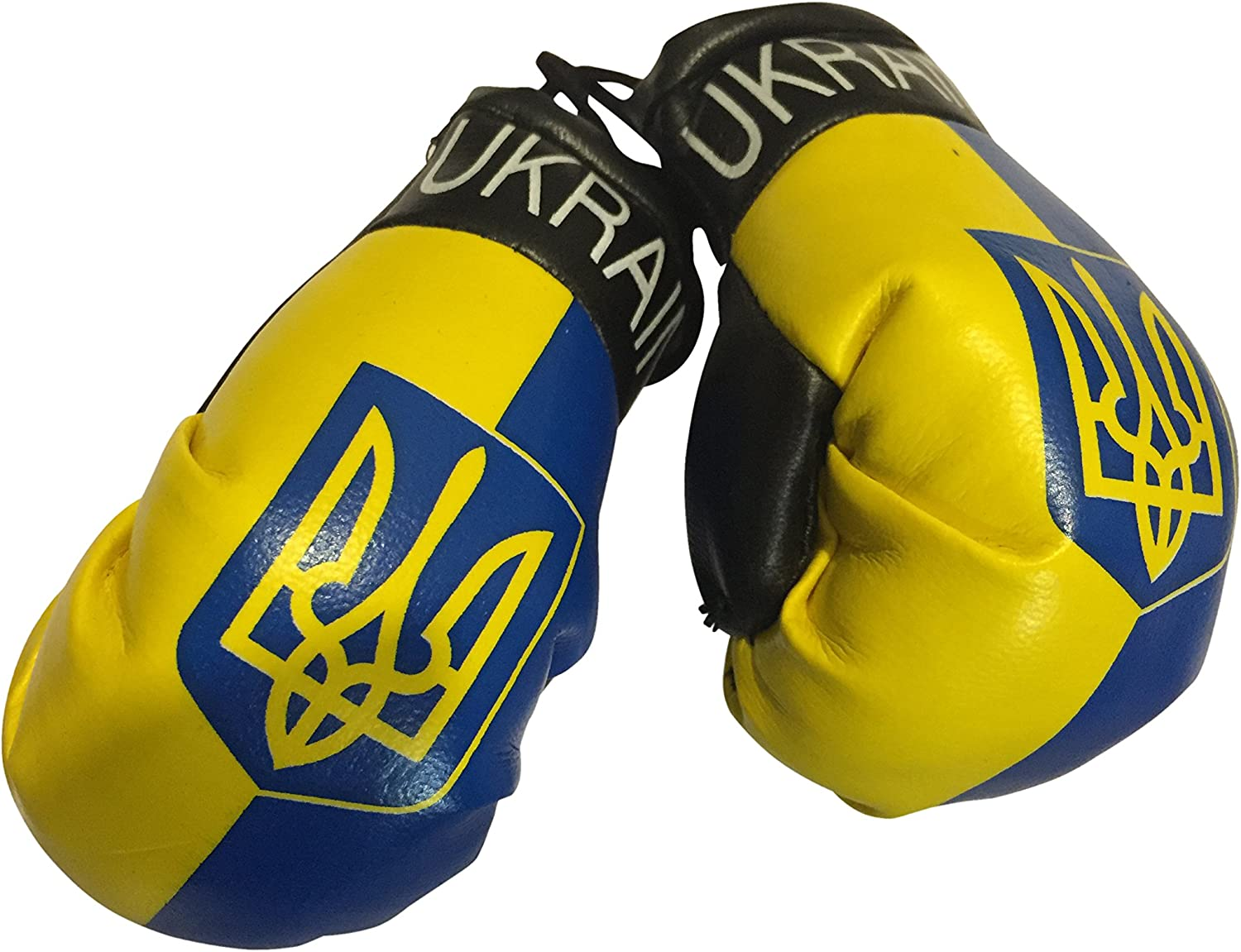 Europe Flag Mini Small Boxing Gloves to Hang Over Car Automobile Mirror