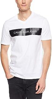 CALVIN KLEIN Men's V-Neck Block Logo Tee