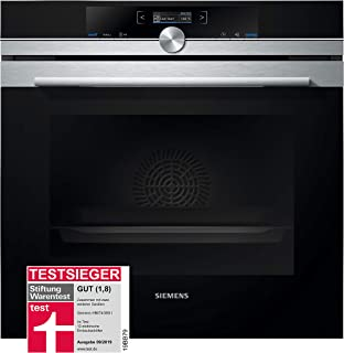 Siemens HB674GBS1 - Horno (Medium (45-75 l total capacity), 71L, Eléctrico, Integrado, Negro, Acero inoxidable, Giratorio, Tocar)