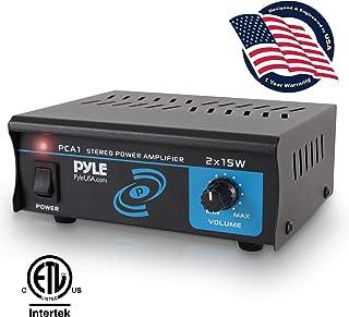 Compact Mini Stereo Power Amplifier – 2×15 Watt Portable Dual Channel Home..