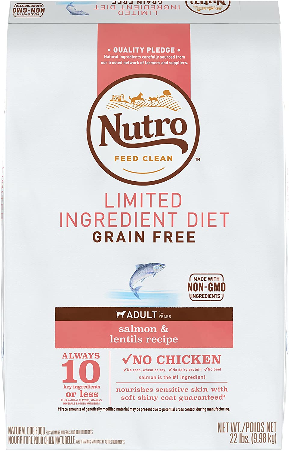 Nutro Limited Ingredient Diet Adult Dry Food for Dogs  Salmon  Adult  9.98kg