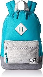 Herschel Heritage Kids Children s Backpack Tile Blue Light Mid Grey  Crosshatch c5315d86692af