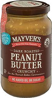 Mayvers Crunchy Dark Roast Peanut Butter, 375g