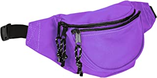 Fanny Pack w/ 3 Pockets Traveling Concealment Pouch Airport Money Bag