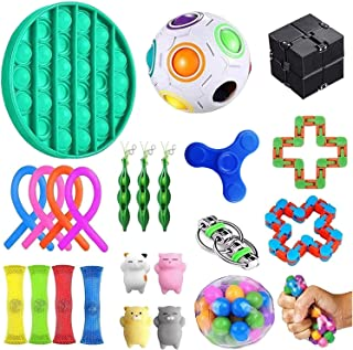 Sensory Toys Set,23pcs Fidget Toys for Kids and Adults, Relieves Stress and Anxiety Fidget Toy, Special Toys Assortment fo...