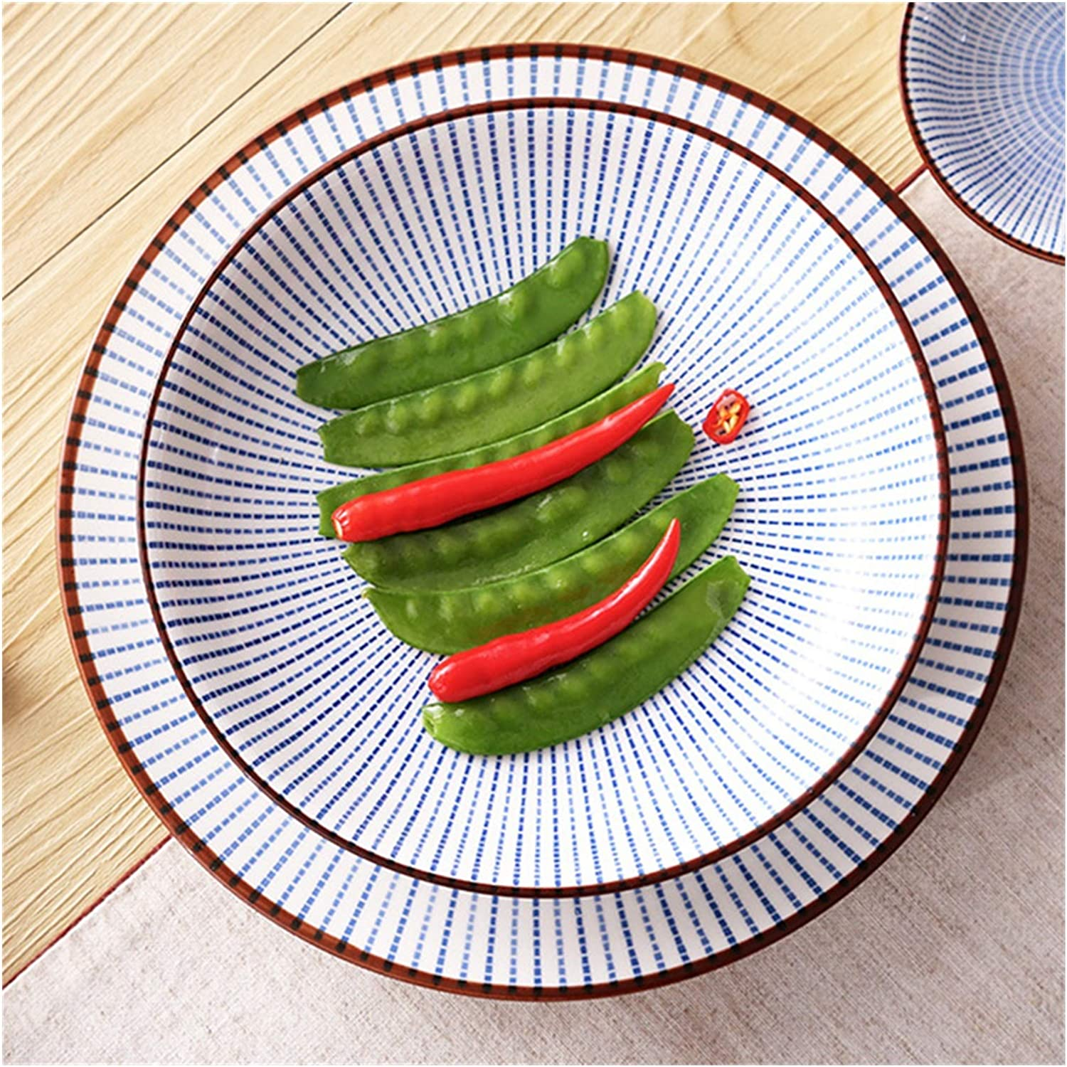 safety plate 6 8 10inch Ceramic Dinner Japanese Max 85% OFF Plate Dish Style Porcel