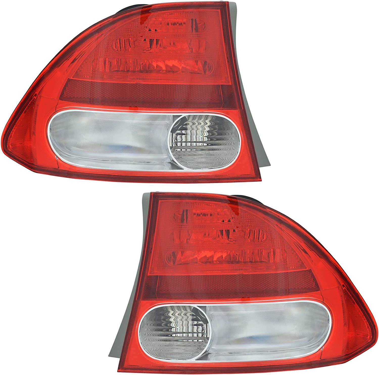 Rear Brake Light Taillight Tail Popular overseas Lamp We OFFer at cheap prices Pair Hon 2 09-11 for Set of