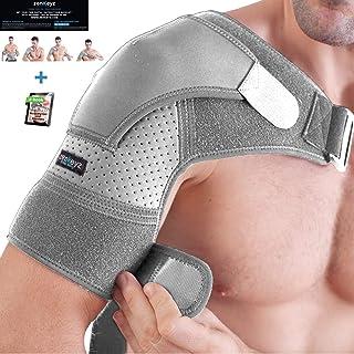 Shoulder Brace for Men and Women+ Bonus – for Torn Rotator Cuff Support,Tendonitis, Dislocation, Bursitis, Neoprene Shoulder Compression Sleeve Wrap by Zenkeyz