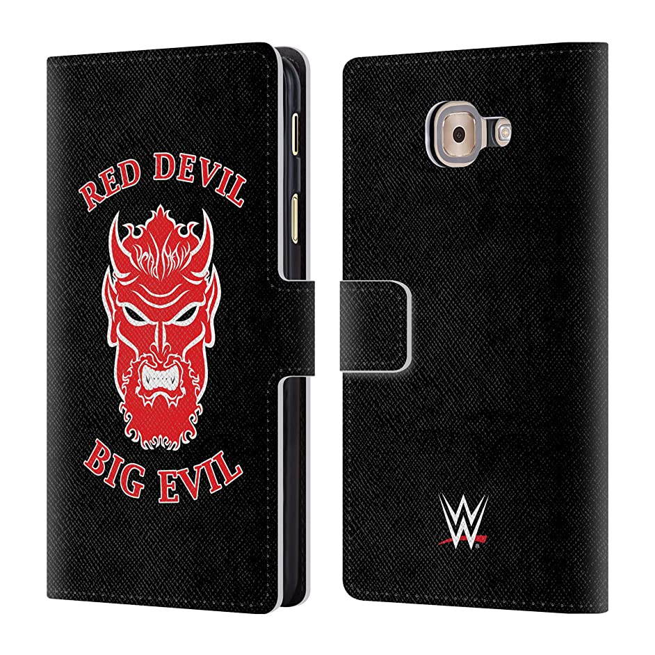 Official WWE Undertaker Red Devil Big Evil 2018/19 Superstars 4 Leather Book Wallet Case Cover for Samsung Galaxy J7 Max