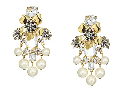 J.Crew Flo Pave and Pearl Earrings (Pearl) Earring
