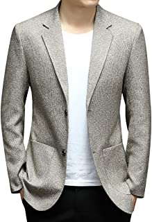 YOUTHUP Mens Slim Fit Blazer Business Casual 2 Button Suit Jacket Formal Blazers