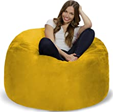 Chill Sack Bean Bag Chair: Giant 4' Memory Foam Furniture Bean Bag - Big Sofa with Soft Micro Fiber Cover - Lemon