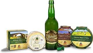 Cesta regalo con productos Gourmet de Asturias