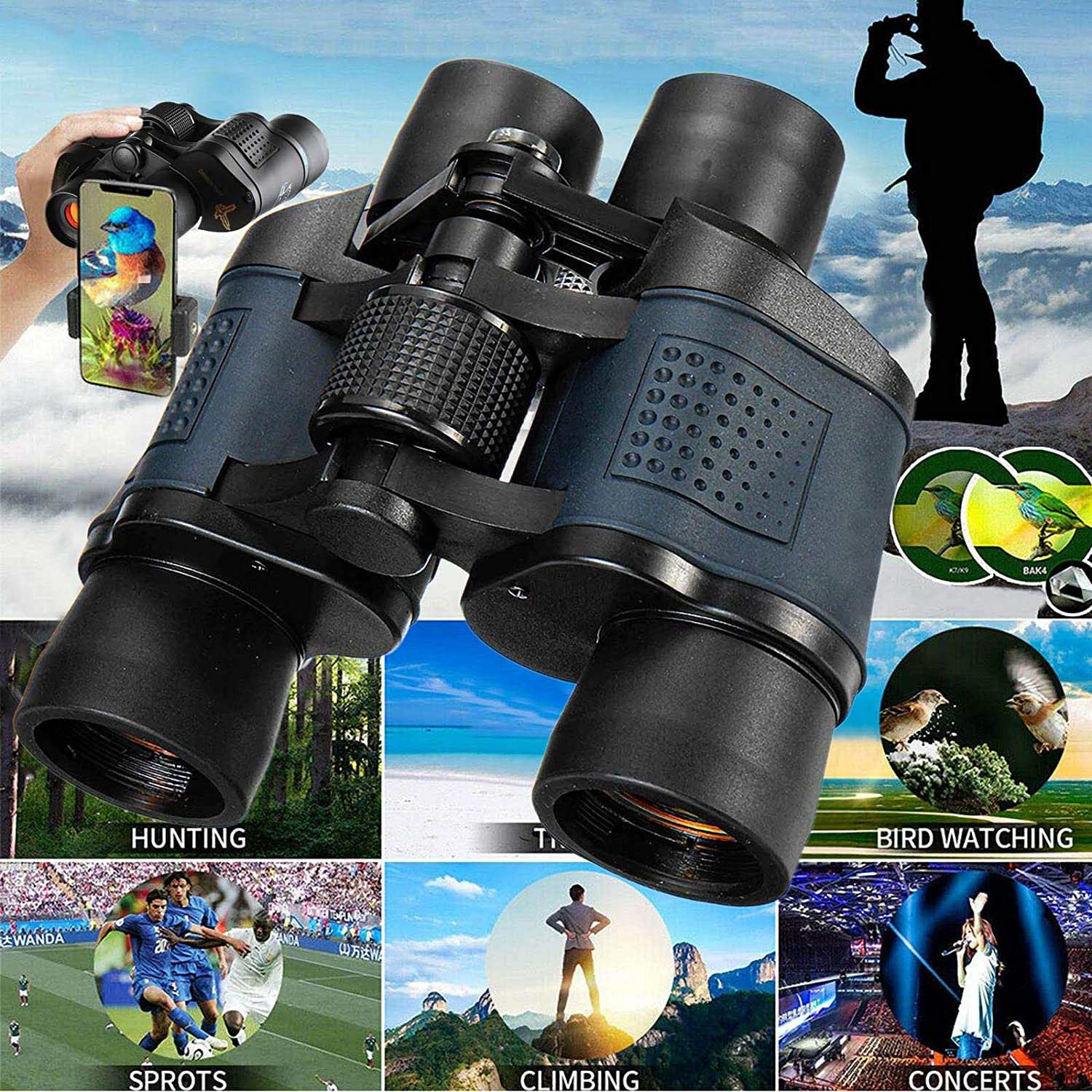 Compact Binoculars 60X60 Small Light Kids for Max 53% OFF Adults Rare
