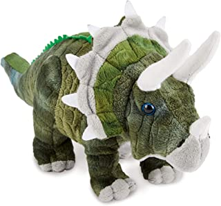 """Zappi Co Childrens Gevulde Zachte Knuffel Triceratops Dinosaurus Zacht Speelgoed (13""""/33cm) Safari dieren Collectie Pluche..."""