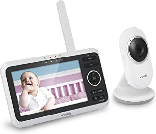 "VTech VM350 5"" Digital Video Baby Monitor with Full-Color and Automatic Night Vision, White"