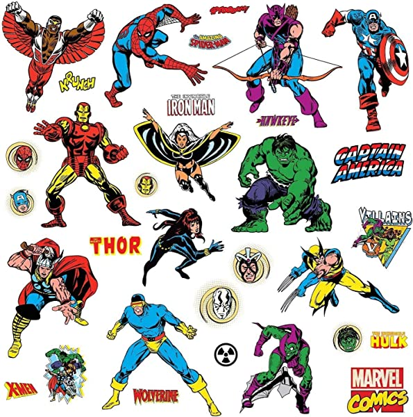 RoomMates Marvel Classics Peel And Stick Wall Decals