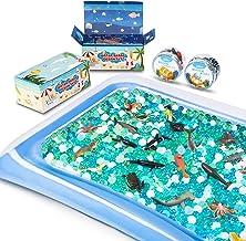 MONILON Water Beads, 24 Pcs Ocean Sea Animals Tactile Sensory Play Kids Toys for Boys Girls, Water Gel Soft Beads Growing ...