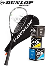 _Dunlop Squashset: Squashschläger BIOTEC LITE TI Silver Deluxe
