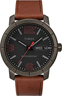 Timex Mens Analogue Classic Quartz Watch with Leather Strap