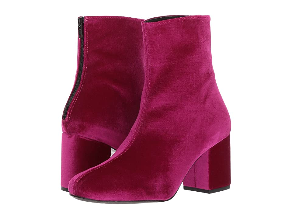 Free People Cecile Velvet Boot (Wine) Women