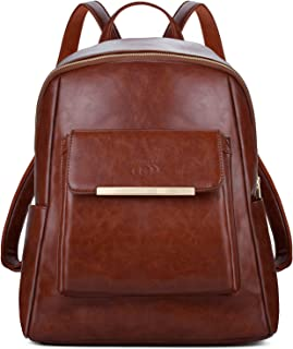 Leather Backpack,COOFIT Black Leather Backpack for Women Fashion Backpack Purse(Synthetic Leather)