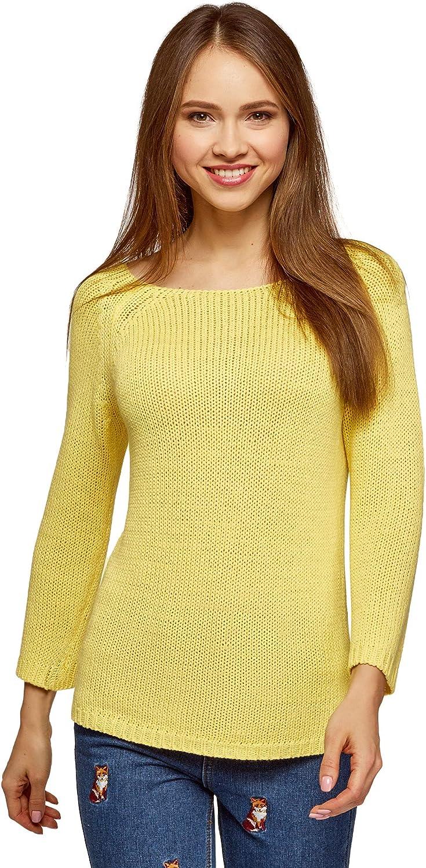 oodji Ultra Women's Basic Round Neck Pullover