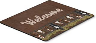 Caroline's Treasures Welcome Mat with Cows Mouse Pad/Hot Pad/Trivet (SB3058MP)