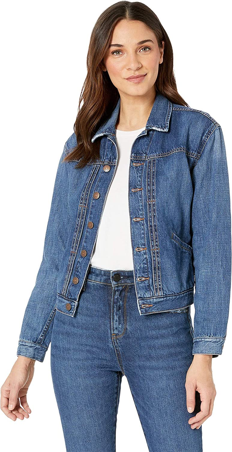 BCBGeneration Women's Patch Pocket Oversized Denim Jacket