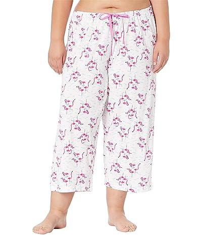 HUE Plus Size Flamingals Capris