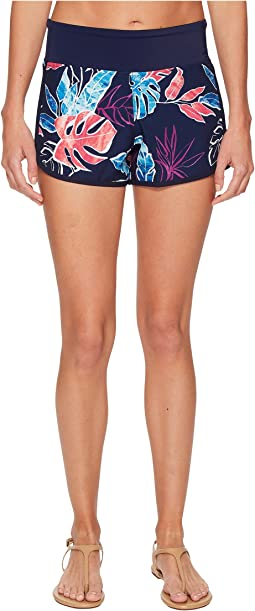 IslandActive Graphic Tropics Hybrid Pull-On Short Cover-Up