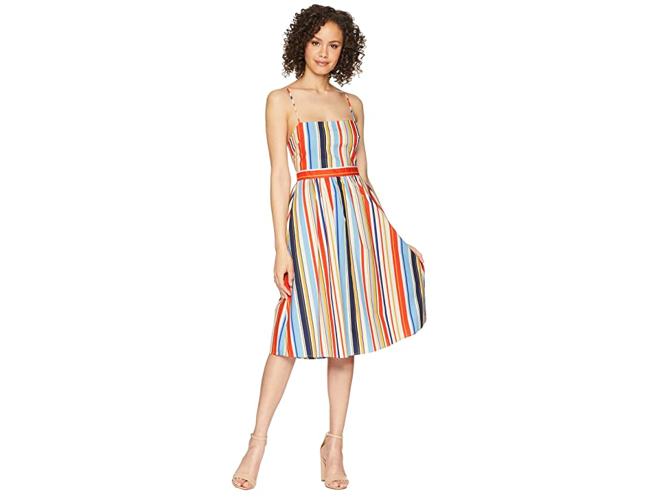 ASTR the Label Shannon Dress (Red/Blue Stripe) Women