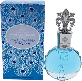 Royal Marina Turquoise by Princesse Marina De Bourbon Eau de Parfum Spray Fragrance for Women Fresh Floral Scent With Note...