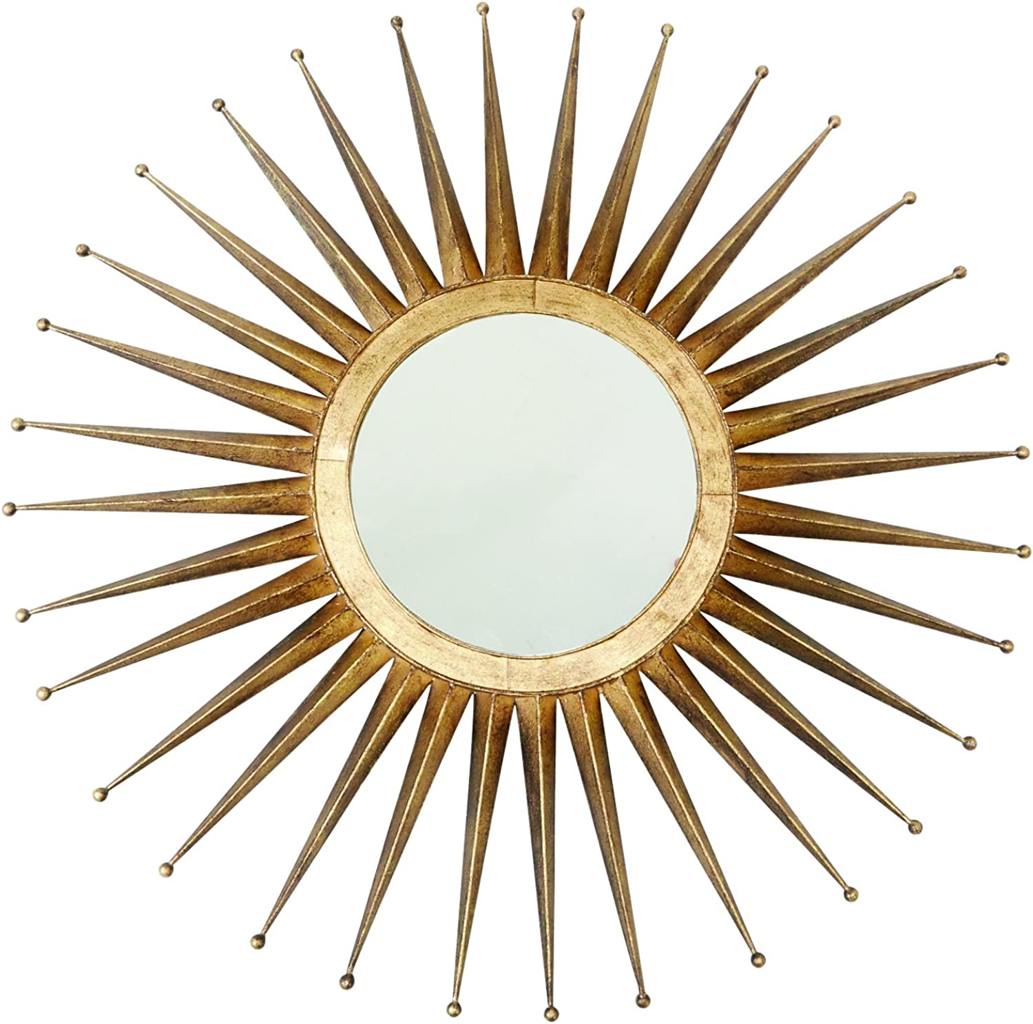 Mud Pie gold Sunburst 30  Decorative Mirror One Size