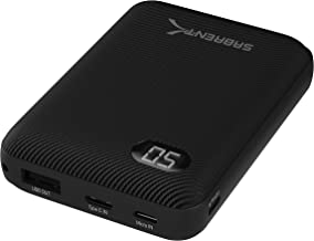 Sabrent 10000 mAh Mini Power Bank Portable Charger - One Cable Solution (PB-YS10)