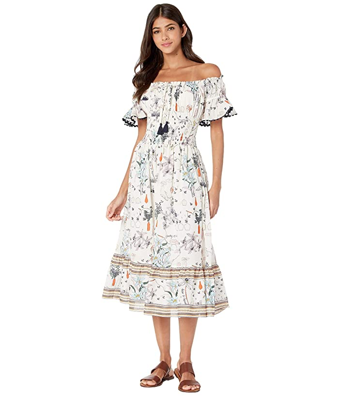 Tory Burch Swimwear Meadow Folly Dress Cover-Up (Ivory Poetry of Things) Women