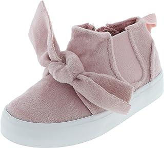 Capelli新しいYork幼児用女の子ソリッドキャンバス靴Tストラップベルクロ留め
