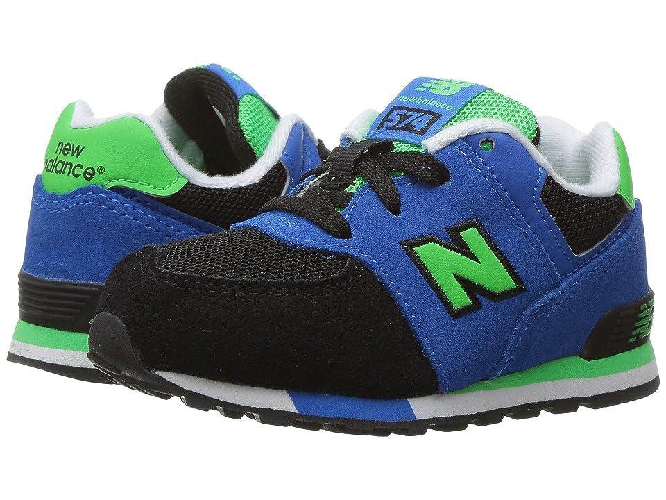 New Balance Kids KL574v1 (Infant/Toddler) (Black/Blue) Boys Shoes