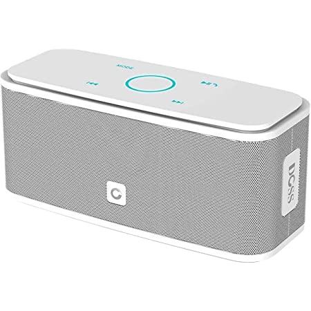 Bluetooth Speakers, DOSS SoundBox Touch Portable Wireless Bluetooth Speakers with 12W HD Sound and Bass, IPX5 Waterproof, 20H Playtime,Touch Control, Handsfree, Speakers for Home,Outdoor,Travel- White