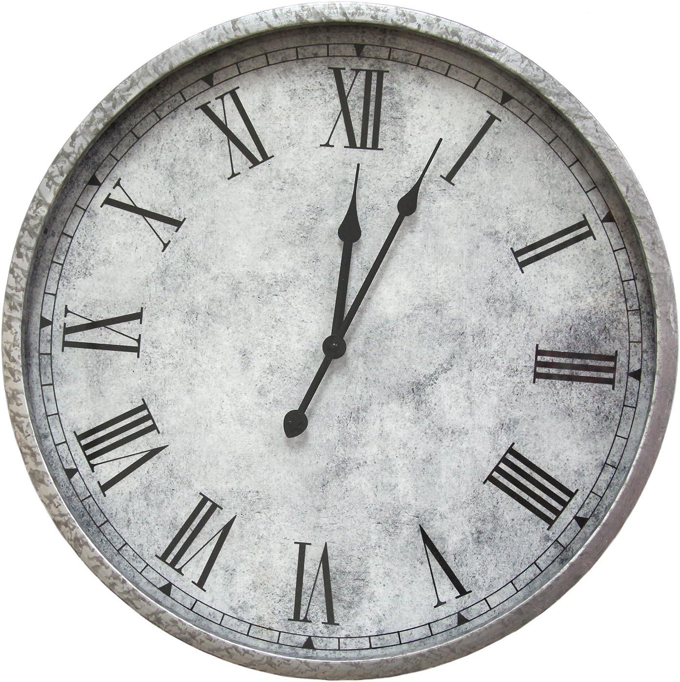 Stratton Home Decor S07721 Direct sale of manufacturer Gaston depot Wall Clock W 18.00 D 2.50 x