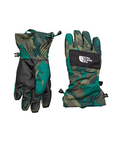 The North Face Kids Montana Futurelight Etip Gloves (Big Kids) (Evergreen Mountain Camo Print) Extreme Cold Weather Gloves
