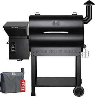 Z Grills ZPG-7002B 2020 Upgrade Wood Pellet Grill & Smoker, 8 in 1 BBQ Grill Auto Temperature Controls, inch Cooking Area,...