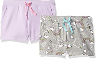 Amazon Brand - Spotted Zebra Girls' Toddler & Kids 2-Pack French Terry Knit Shorts