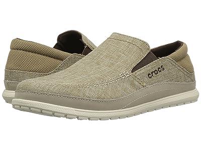 Crocs Santa Cruz Playa Slip-On (Khaki/Stucco) Men