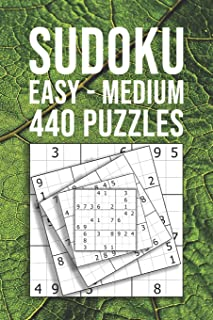SUDOKU easy - medium | 440 Puzzles: For Beginner And Novice Solvers | Entertaining Game To Keep Your Brain Active