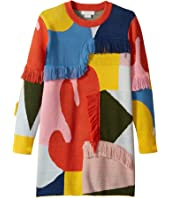Stella McCartney Kids - Color Block and Fringe Sweater Dress (Toddler/Little Kids/Big Kids)